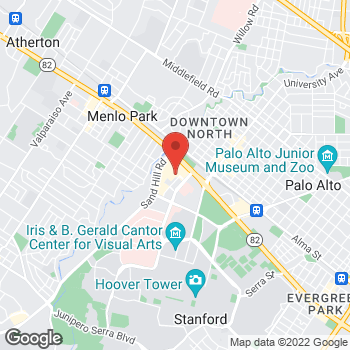 Map of BCBGMAXAZRIA at 180 El Camino Real, Palo Alto, CA 94304