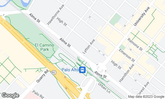 Map of Coupa Cafe at 111 Lytton Ave Palo Alto, CA