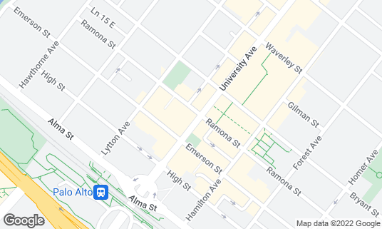 Map of Tap Room at 233 University Ave Palo Alto, CA