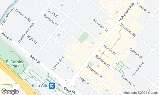Map of Bird Dog at 420 Ramona St Palo Alto, CA