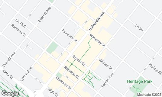 Map of Burma Ruby at 326 University Ave Palo Alto, CA