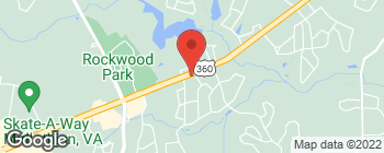 Map of 9505 Hull Street Rd in North Chesterfield