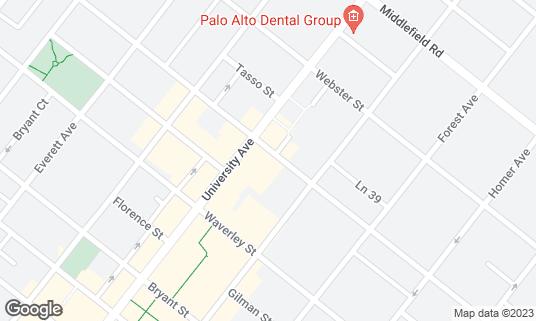 Map of Il Fornaio at 520 Cowper St Palo Alto, CA