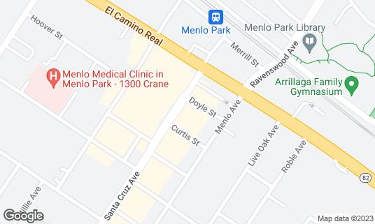 Map of Bistro Vida at 641 Santa Cruz Ave Menlo Park, CA