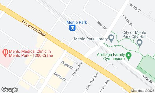 Map of Cafe Borrone at 1010 El Camino Real Menlo Park, CA