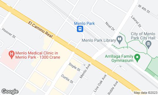 Map of British Bankers Club at 555 Santa Cruz Ave Menlo Park, CA