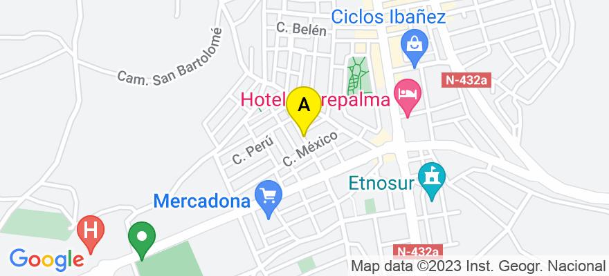situacion en el mapa de . Direccion: CALLE BOLIVIA, Nº 12, BAJO, 23680 Alcalá la Real. Jaén