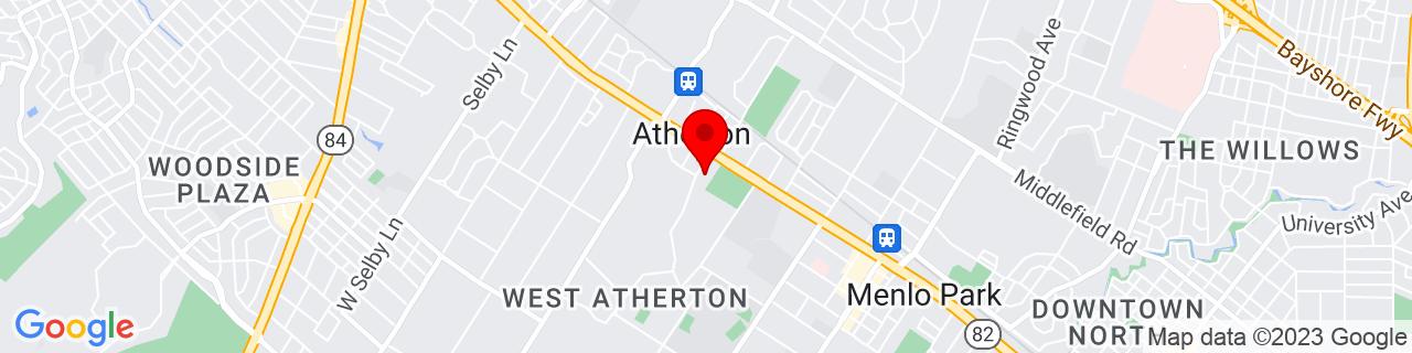 Google Map of 37.458698, -122.196706