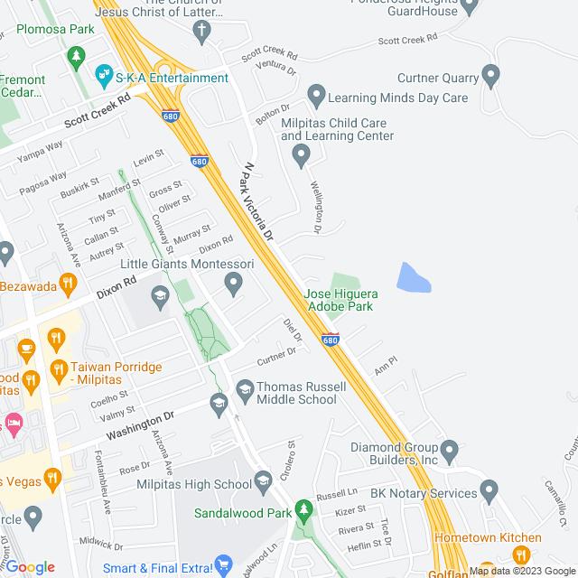 Map of SR-237 Express Lanes