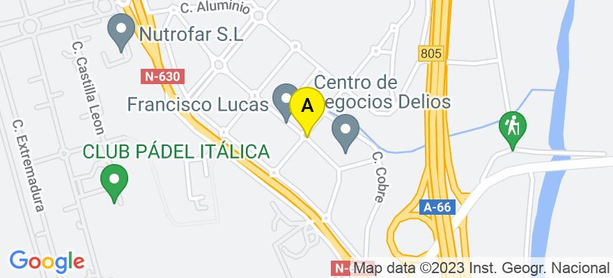 situacion en el mapa de . Direccion: Sevilla, Salteras, Calle platino pl 1 mod 9 desp 2, 41909 Salteras. Sevilla