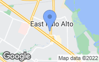 Map of East Palo Alto, CA