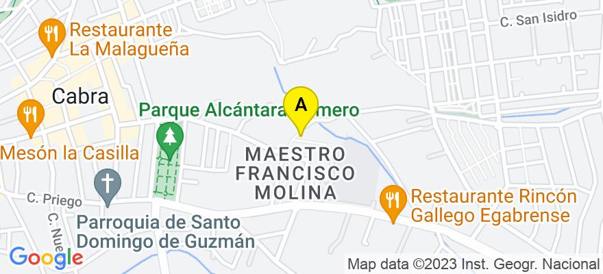situacion en el mapa de . Direccion: Cl San Marcos, 2, 1º izquierda, 14940 Cabra. Córdoba