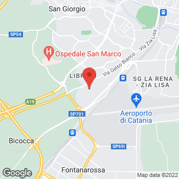 Map of Galleria Auchan, Via Gelso Bianco in Catania