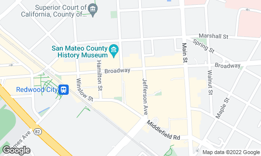 Map of Cinemark Theatre Redwood Downtown 20 and XD at 825 Middlefield Rd Redwood City, CA