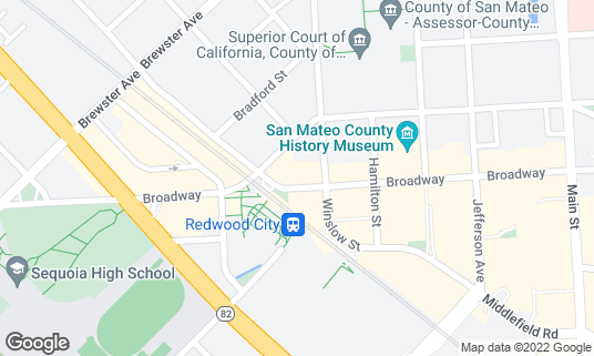 Map of The Sandwich Spot at 2420 Broadway St Redwood City, CA