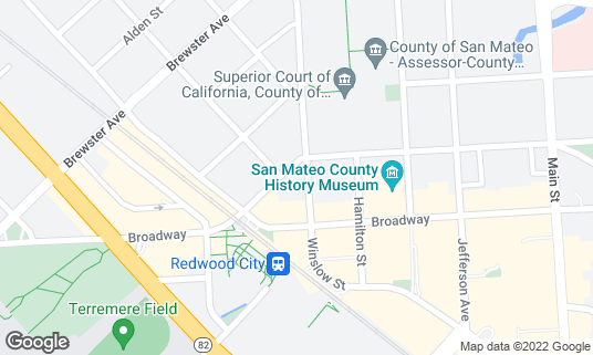 Map of Bobby D's Cocktail Lounge & Sports Bar at 700 Winslow St Redwood City, CA