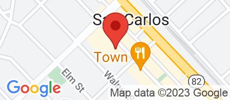 Branch Location Map - Comerica Bank, San Carlos Branch, 644 Laurel Street, San Carlos CA