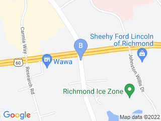 Map of Holiday Barn Pet Resort Dog Boarding options in Richmond | Boarding