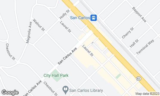 Map of Blue Line Pizza at 1201 San Carlos Ave San Carlos, CA