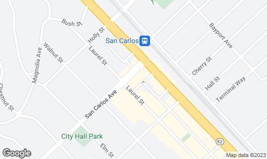 Map of Sneakers Pub & Grill at 1163 San Carlos Ave San Carlos, CA