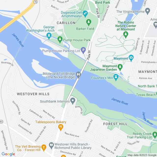 Map of Boulevard (SR 161) Bridge