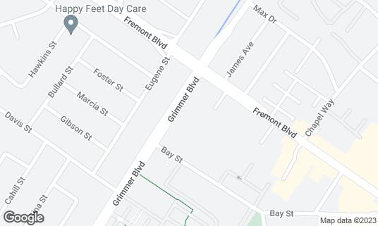 Map of Cloverleaf Family Bowl at 40645 Fremont Blvd Fremont, CA