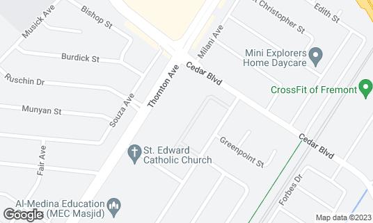 Map of O'Sullivan's Sports Bar at 5660 Thornton Ave Newark, CA