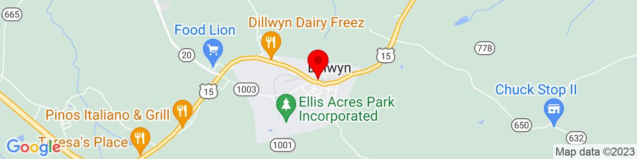 Google Map of 37.5429251, -78.4572238