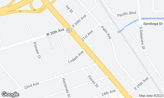 Map of Route 92 Sports Bar at 2128 S El Camino Real San Mateo, CA
