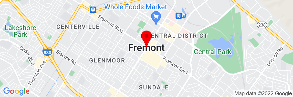 Google Map of 37.548269722222,-121.98857194444