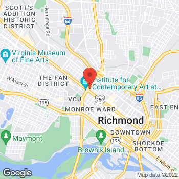 Map of Rite Aid at 520 West Broad Street, Richmond, VA 23220