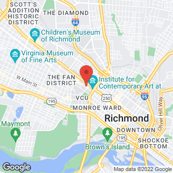 Map of Panera Bread at 810 West Grace Street, Richmond, VA 23220