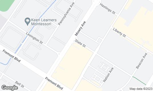 Map of Saravanaa Bhavan at 3720 Mowry Ave Fremont, CA