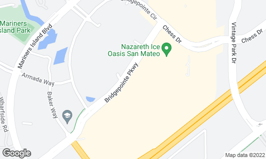 Map of BJ's Restaurant and Brewhouse at 2206 Bridgepointe Pkwy Foster City, CA