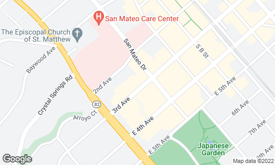 Map of 3rd Avenue Sports Bar and Grill at 77 E 3rd Ave San Mateo, CA