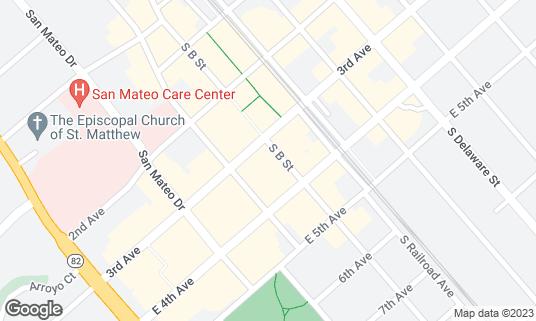 Map of B Street & Vine at 320 S B St San Mateo, CA