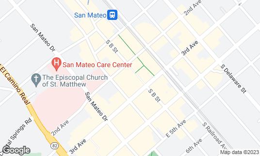 Map of B Street Station at 236 S B St San Mateo, CA