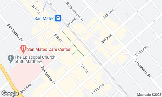 Map of Century 12 San Mateo at 320 2nd Ave San Mateo, CA