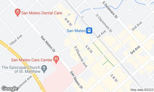 Map of 31st Union at 5 S Ellsworth Ave San Mateo, CA