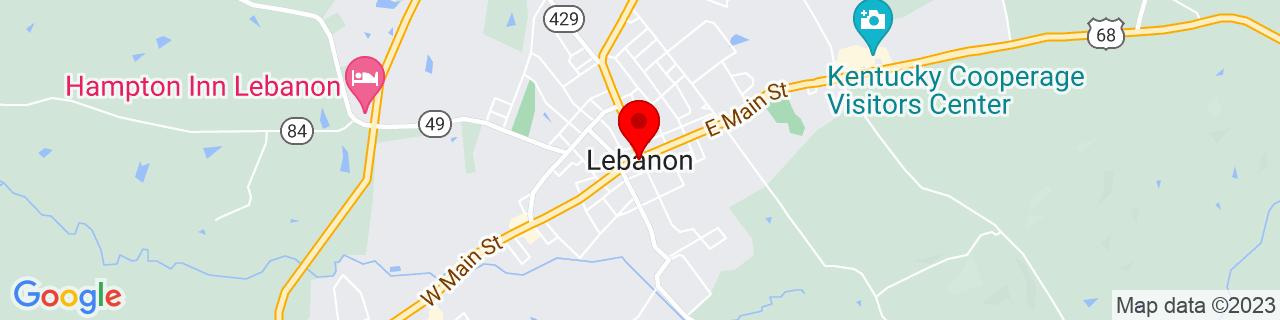 Google Map of 37.569722222222225, -85.25277777777778