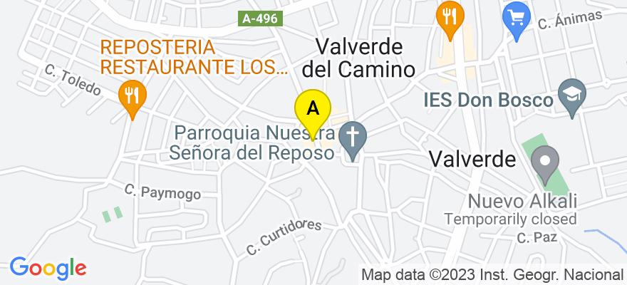 situacion en el mapa de . Direccion: Calle Valle de la Fuente, 11, 21600 Valverde del Camino. Huelva