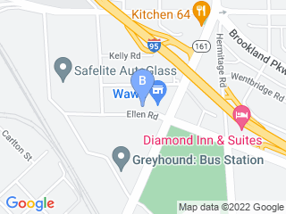 Map of Diamond Dog House Dog Boarding options in Richmond | Boarding