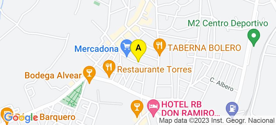 situacion en el mapa de . Direccion: Calle La Parra nº 29, 14550 Montilla. Córdoba