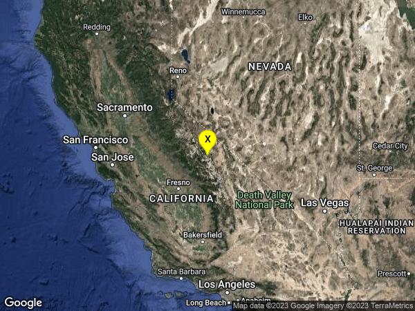 earthquake 11km ESE of Mammoth Lakes, CA