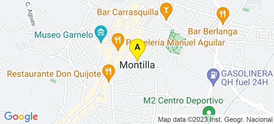 situacion en el mapa de . Direccion: CORREDERA, Nº 51, 1º IZQ., 14550 Montilla. Córdoba