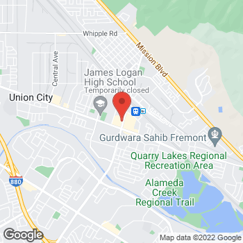 Map of Burger King at 1801 Decoto Rd, Union City, CA 94587