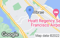 Map of Millbrae, CA