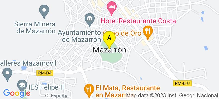 situacion en el mapa de . Direccion: C/ malecón n 15 2c, 30870 Mazarrón. Murcia