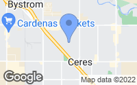 Map of Ceres, CA