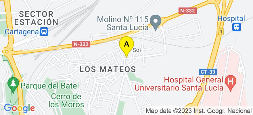situacion en el mapa de . Direccion: c/ San francisco, 3 2 c, 30202 Cartagena. Murcia